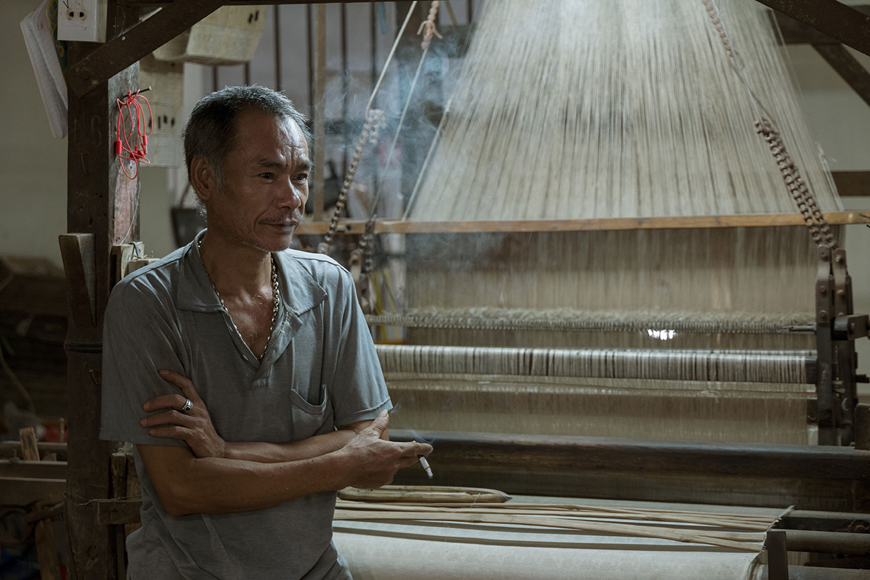 Ha Dong district,  silk loom,  Hanoi, Vietnam